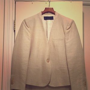 A classic one button blazer